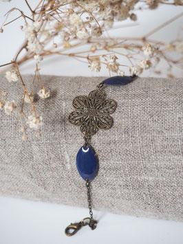 Bracelet sequins gouttes bleu nuit