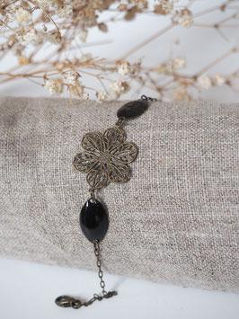Bracelet sequins gouttes noir