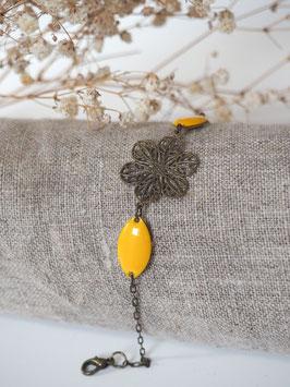 Bracelet sequins gouttes jaune