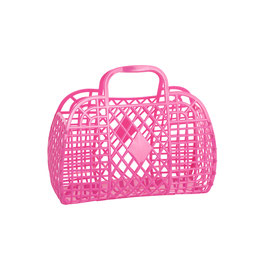 RETRO BASKET - Small Berry Pink