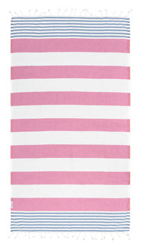 TURKISH TOWEL - Watermelon / Denim