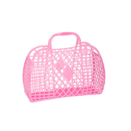 RETRO BASKET - Small Neon Pink