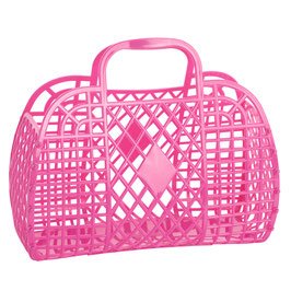 RETRO BASKET - Large Berry Pink
