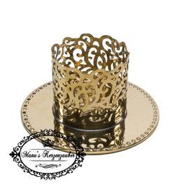 Kerzenständer Ornament KST 134-40 gold glänzend