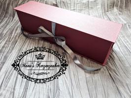 Exclusive Kerzenbox /Kerzenkarton in Bordeaux-Silber