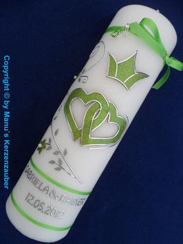 Hochzeitskerze HK215 Apfelgrün