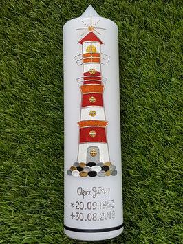 Trauerkerze Leuchtturm TRK565