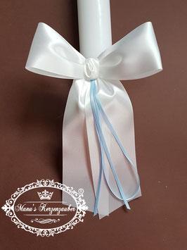 Kerzenschleife mit Hellblauen Bändern KS103