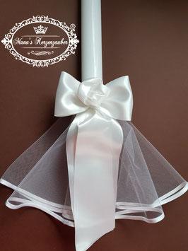 Kerzenröckchen Tüll mit Satinschleife in Weiß KR100