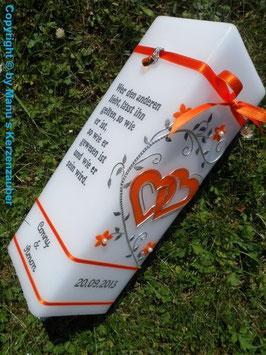Hochzeitskerze HKS213 Orange Uni