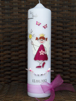 Taufkerze SK145 Kleine Fee in Pink