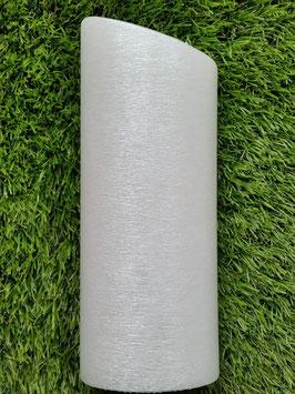 Oval abgeschrägt weiß gebürstet und gelackt