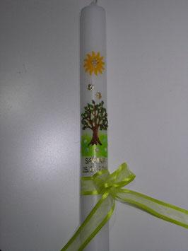 Kommunionkerze oder Konfirmationskerze KK302 Lebensbaum