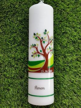 Taufkerzen Lebensbaum mit Silberschrift TK400-1