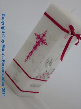 Hochzeitskerze Wir sagen Ja! HKS208 Pink