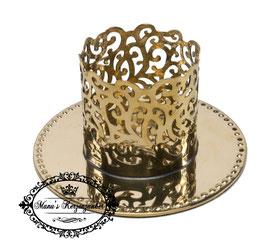 Kerzenständer Ornament KST 134-50 Gold glänzend