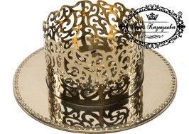 Kerzenständer Ornament KST 134-80 gold glänzend