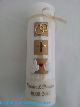 Sehr edle Hochzeitskerze HK210-1 Verliebte Tauben