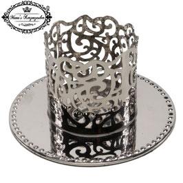 Kerzenständer Ornament KST 134-50 silber glänzend