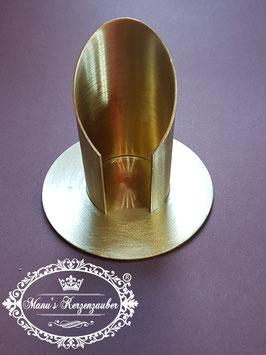 Kerzenständer KST 132 gold matt gebürstet