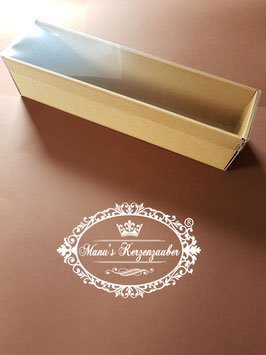 Kerzenbox / Kerzenkarton mit Stülpdeckel in Creme