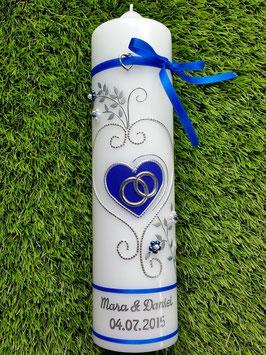 Hochzeitskerze HK208 Royalblau Uni