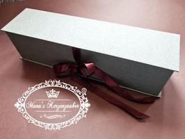 Exclusive Kerzenbox /Kerzenkarton in Silbergrau - Bordeaux