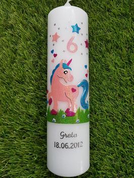 Geburtstagskerze Einhorn GK265