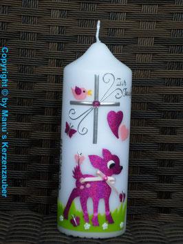 Patenkerze Bambi TK188 Pink