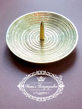 Kerzenleuchter KST 159 Rillen gold mit Dorn