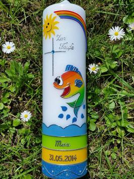 Taufkerze Lustiger Fisch TK195 Bunt