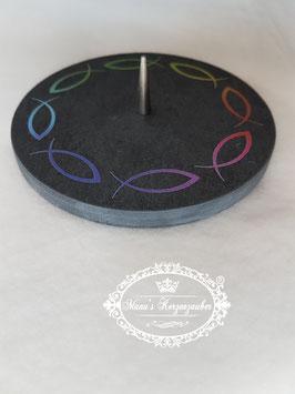 Kerzenständer mit Fische KST 098-1 aus Schiefer