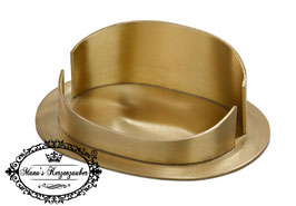 Kerzenleuchter KST  oval gold gebürstet sehr edel