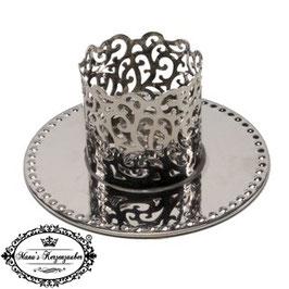 Kerzenständer Ornament KST 134-40 silber glänzend