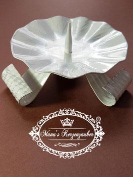 Kerzenleuchter KST 104 Dreifuß weiß/silber