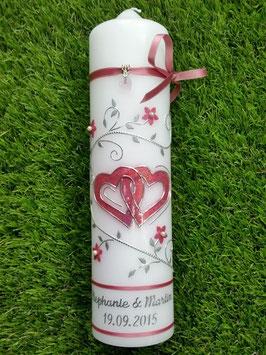 Hochzeitskerze Altrosa Holoflitter HK204 Klassisch