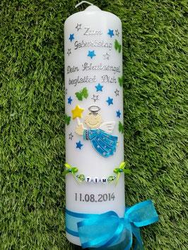 Geburtstagskerze GK153 Schutzengel Junge Türkis