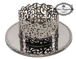 Kerzenständer Ornament KST 134-60 silber glänzend