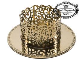 Kerzenständer Ornament KST 134-60 gold glänzend