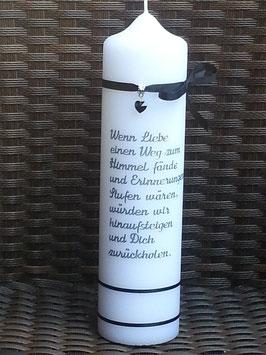 Trauerkerze Spruch TRK516 inkl. Namen & Datum