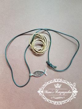 Halskette Fisch mit Wechselbänder