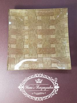 Kerzenteller KST 191 Stroh in gold
