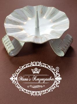 Kerzenleuchter KST 105 Dreifuß weiß/gold