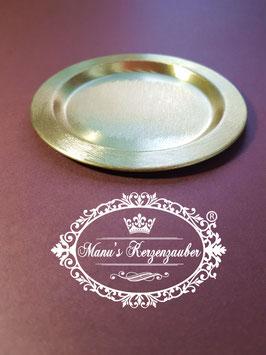 Kerzenteller KST  gold rund 11 cm