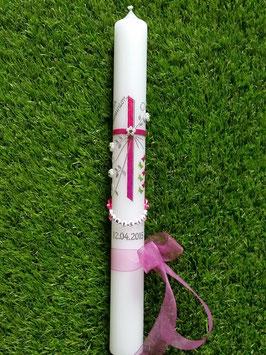 Kommunion KK135 Pink-Apfelgrün Holoflitter & Schmetterlinge