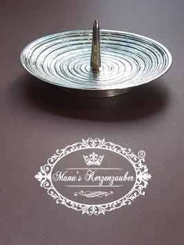 Kerzenleuchter KST 158 Rillen silber mit Dorn