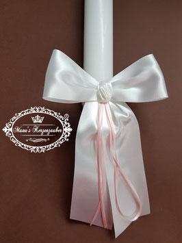 Kerzenschleife mit Rosa Bändern KS102