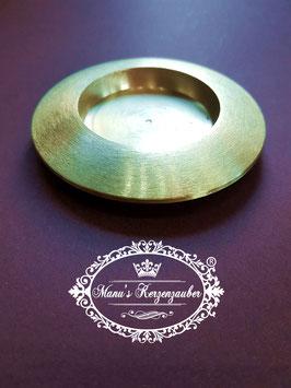 Kerzenteller KST 166 gold matt gebürstet bis 50 mm