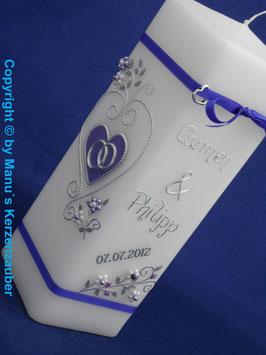 Hochzeitskerze HKS212 Lila