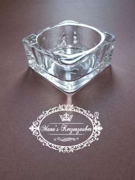Teelicht Halter KST 97 Glas Viereck elegant
